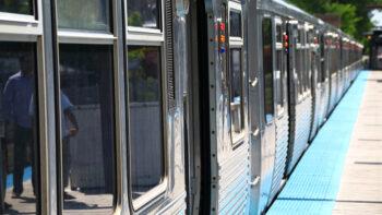 Near Metra train station